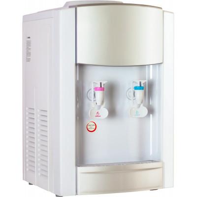 Кулер для воды Aqua Work 21 серебро-белый с нагревом и компрессорным охлаждением