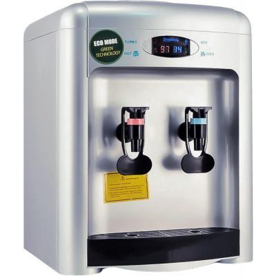 Настольный кулер для воды Aqua Work 36-TDN-ST серебряного цвета с турбонагревом и охлаждением электронного типа
