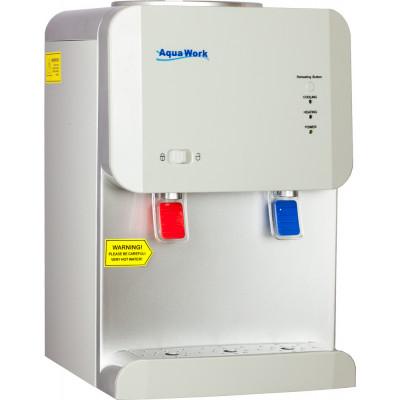 Кулер для воды Aqua Work 105-TD белый с турбонагревом и электронным охлаждением+ защита от детей