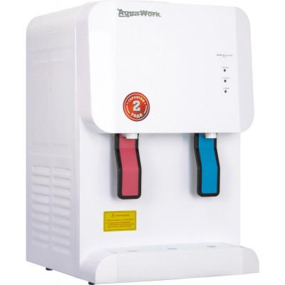 Настольный кулер для воды Aqua Work 105-TDR белого цвета с турбонагревом и охлаждением электронного типа