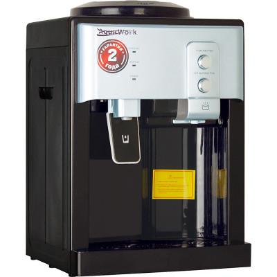 Кулер для воды Aqua Work 19-TD черный-серебро с нагревом и электронным охлаждением