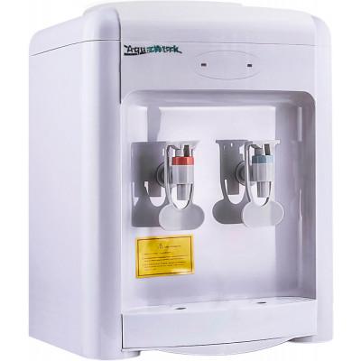 Настольный кулер для воды Aqua Work 36-TDN белого цвета с нагревом и охлаждением электронного типа