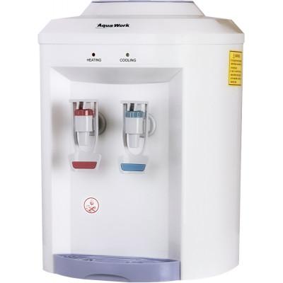 Настольный кулер для воды Aqua Work 721-T белого цвета с нагревом и охлаждением электронного типа