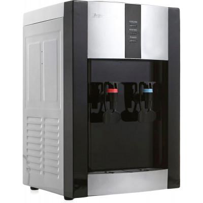 Настольный кулер для воды Aqua Work 16-TD/EN серебристо-чёрного цвета с нагревом и охлаждением электронного типа