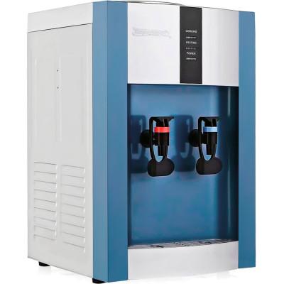 Настольный кулер для воды Aqua Work 16-TD/EN синего цвета с нагревом и охлаждением электронного типа