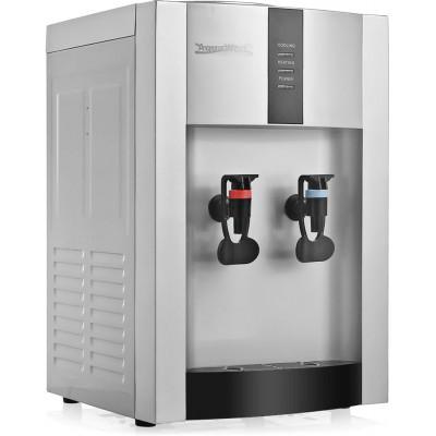 Настольный кулер для воды Aqua Work 16-TD/EN серебряного цвета с нагревом и эл. охлаждением
