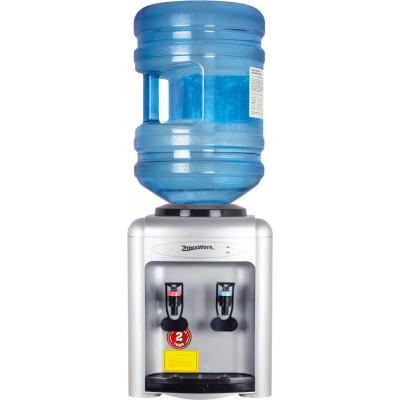 Кулер для воды Aqua Work 0.7-TD серебро с нагревом и электронным охлаждением
