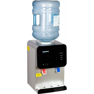 Кулер для воды Aqua Work 105-TD серебристо- черный с нагревом и электронным охлаждением