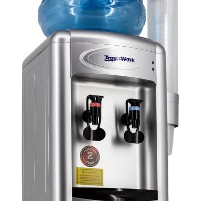 Кулер для воды Aqua Work 0.7-TDR серебро с нагревом и электронным охлаждением