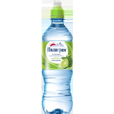 Вода Пилигрим 0,5 литра Лайм-Мята спорт негазированная (8 шт.)