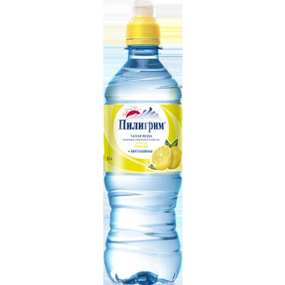 Вода Пилигрим 0,5 литра Лимон спорт негазированная (8 шт.)