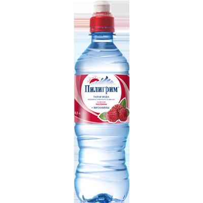 Вода Пилигрим 0,5 литра Малина спорт негазированная (8 шт.)