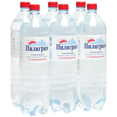 Вода Пилигрим 1,5 литра ПЭТ газированная (6 шт.)