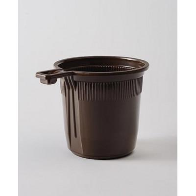 Чашка кофейная однораз. пластик 200 мл коричневая (50 шт. в упаковке)