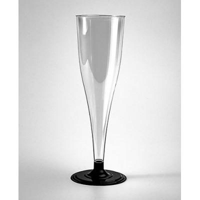 Фужеры для шампанского одноразовые из пластика, 170 мл, 6 шт