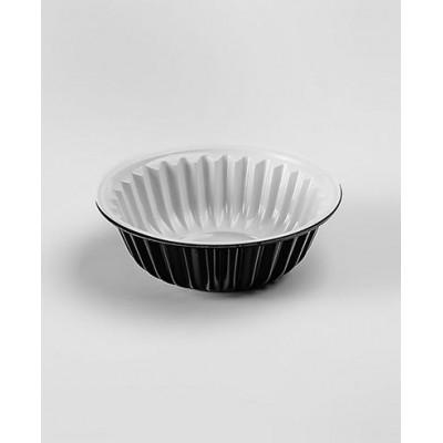 Креманки одноразовые чёрно-белые 150 мл, пластик (100 шт. в упаковке)