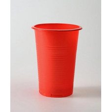 Стакан одн. 200 мл красный пластик (100 шт.)