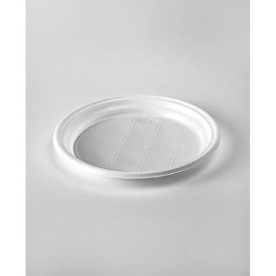 Тарелки одноразовые пластиковые 205 мм, белые (100 шт.)