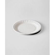 Тарелка одн. картон 170 мм белая (100 шт.)