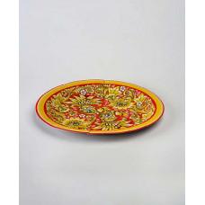 Тарелка одноразовая цветная 240 мм ламинированный картон разные рисунки (50 шт.)