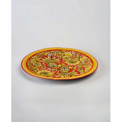 Тарелки одноразовые цветные, ламинированный картон разные рисунки, 240 мм (50 шт.)