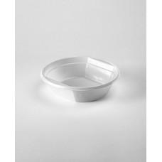 Тарелка одноразовая 500 мл суповая белая пластик (100 шт.)