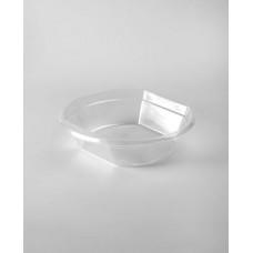 Тарелка одноразовая 500 мл суповая прозрачная пластик (100 шт.)