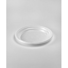 Тарелка одноразовая пластик 165 мм белая (100шт.)