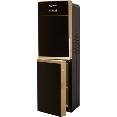 Кулер для воды Aqua Work R85-W золото-черный со шкафчиком, с нагревом и компрессорным охлаждением