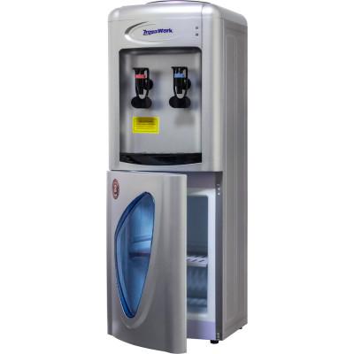 Кулер для воды Aqua Work 0.7-LDR серебро со шкафчиком, с нагревом и электронным охлаждением