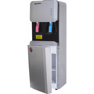 Кулер для воды Aqua Work 105-LDR серебро, нагрев и эл. охлаждение, встроенный шкафчик