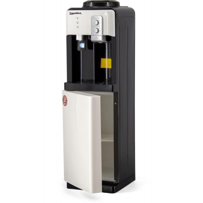 Кулер для воды Aqua Work 19-LD бело-черный со шкафчиком, с нагревом и электронным охлаждением