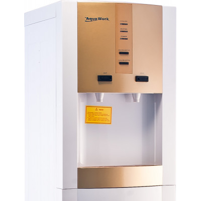 Кулер для воды Aqua Work 16-LD/D золото с нагревом и электронным охлаждением